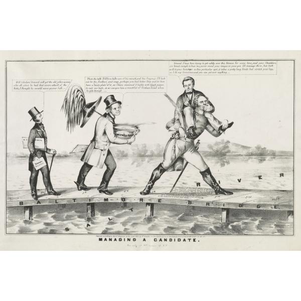 Photo Print 20x30: Managing A Candidate, circa 1852 by ClassicPix.com at Sears.com