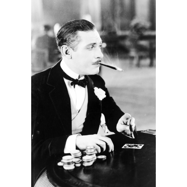Photo Print 11x17: Man, With Cigarette Holder In Mouth, Playing Cards, 1930 by ClassicPix.com at Sears.com