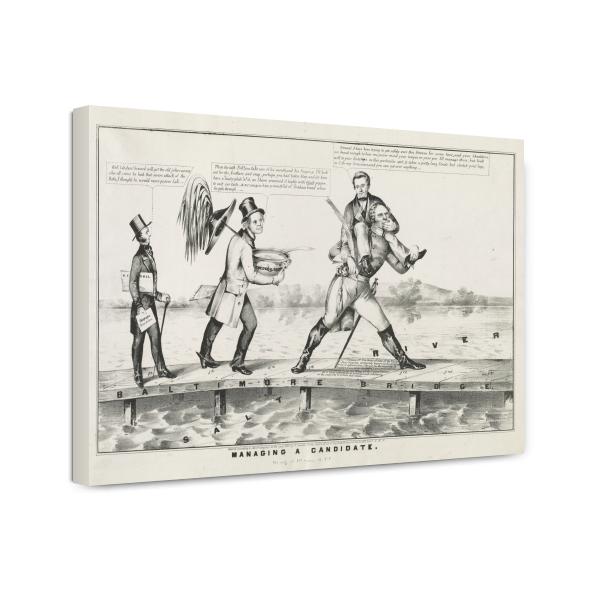 Canvas Print 12x18: Managing A Candidate, circa 1852 by ClassicPix.com at Sears.com